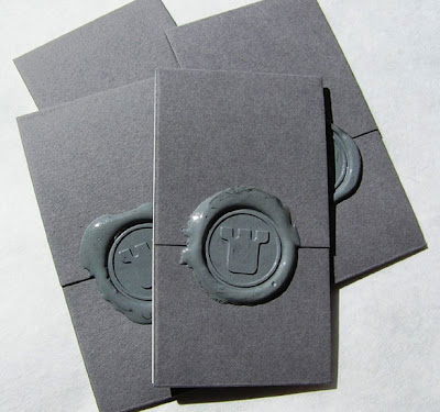 unique and original wax sealed business card