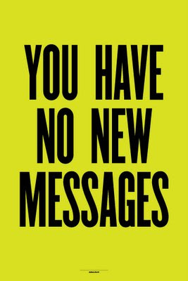 anthony burrill you have no new messages
