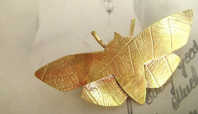 lux and love brass moth butterfly brooch