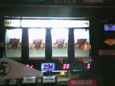 Not common, but $100 with 38 left in the machine yields $2364.