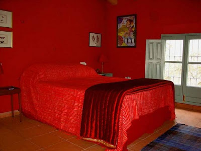 absolute red wall bedroom interior design