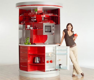 compact all in one modular kitchen design