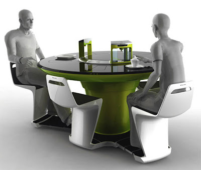 all in one computer futuristic kitchen set