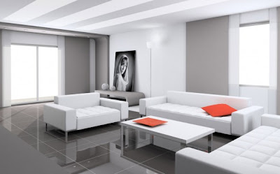 White Living Room Interior Decor