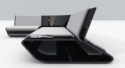 Back Metal Modular Sofa Design