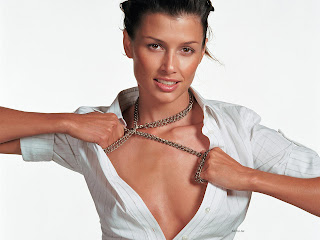 BRIDGET MOYNAHAN SEXIEST MODELING PIC IN WHITE DRESS