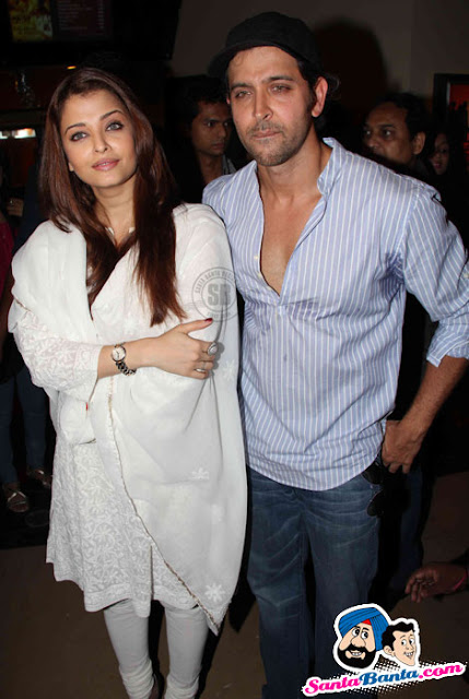 Aishwarya and Hrithik at 'Guzaarish' movie promo