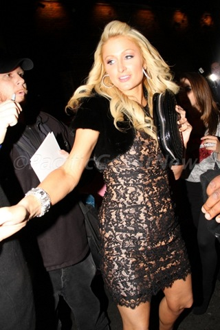 Paris Hilton In A Cocktail Dress Photos