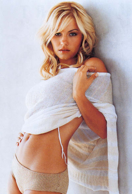 Hot Elisha Cuthbert Modeling In White Bikini Pics