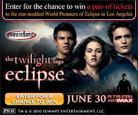 Get Free Ticket For Premiere The Twilight Saga Eclipse