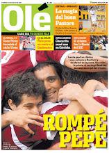 Tapa del Diario Olé