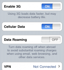 how to get data on iphone without a data plane