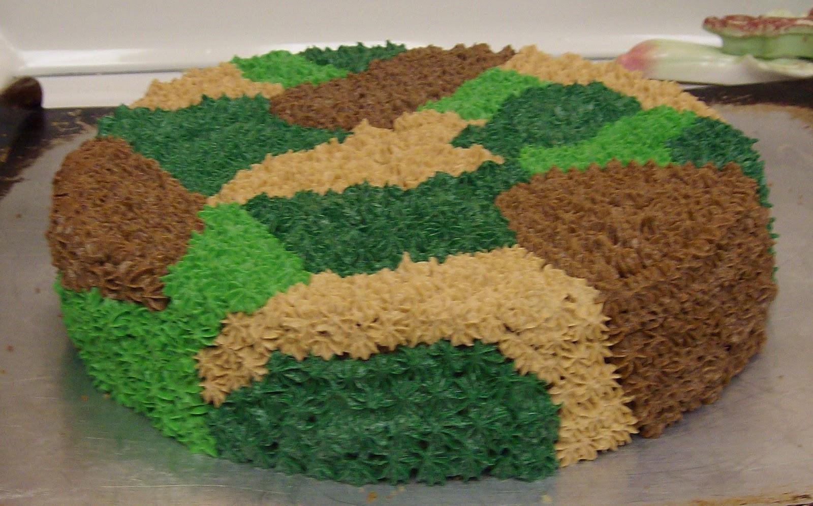 SugarSpice Camouflage Cake