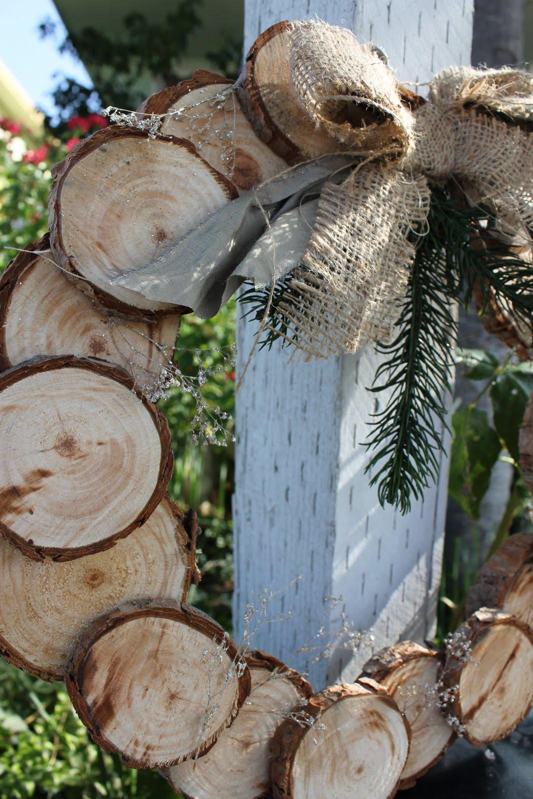 Lu bird baby a natural christmas birch wood wreath