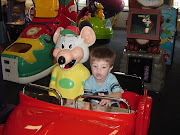 Charley's first time at Chuck E Cheese. Just think, about 6 years ago both .