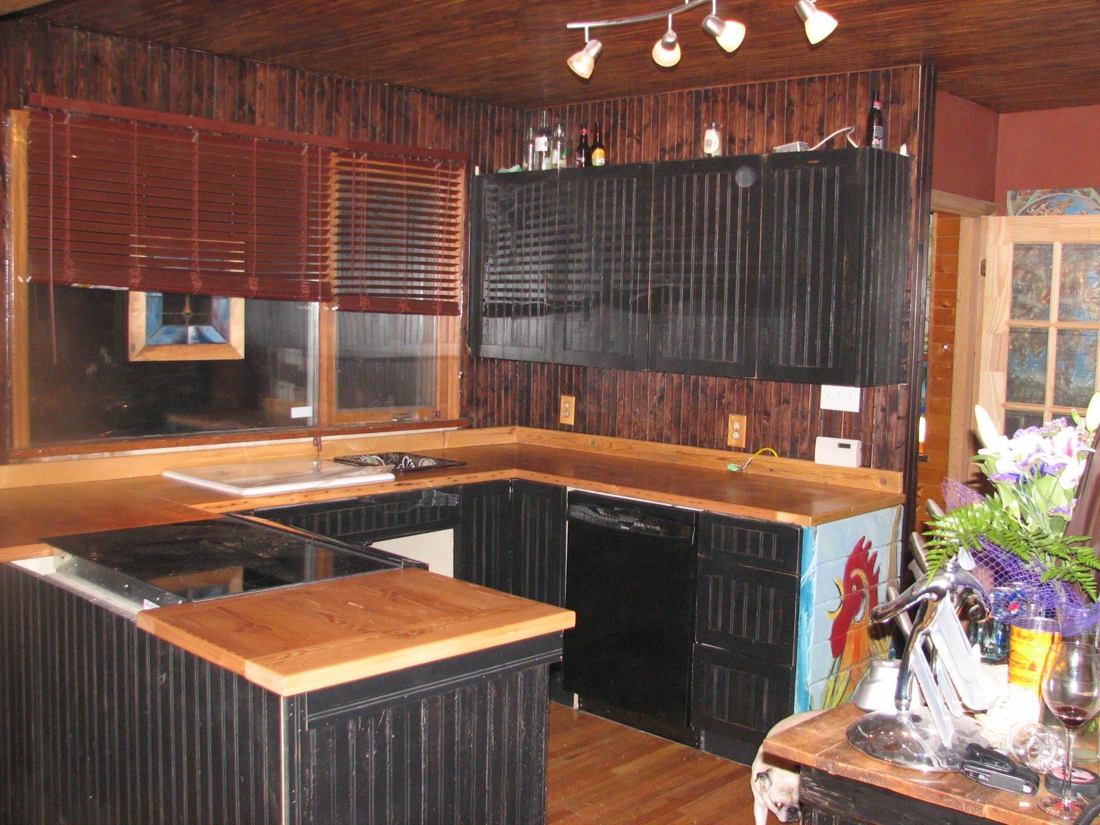 Kitchen cabinets barn wood - Barnwood Countertops And Cabinet Doors