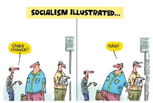 it's all one thing: Capitalism and communism cartoons