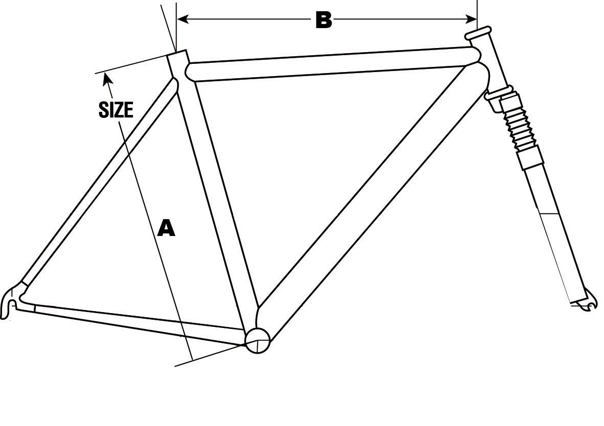 Polkupyörän runkokoko