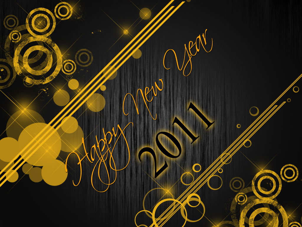 38 Desain Wallpaper Happy New Year 2011 Gratis