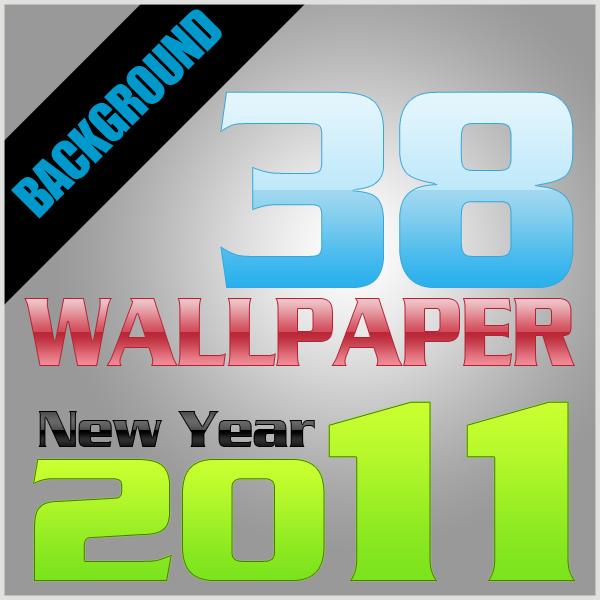 38 Desain Wallpaper Happy New Year 2011 Gratis