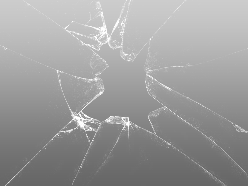Wallpaper Desktop Windows7: Brush Kaca Pecah Gratis