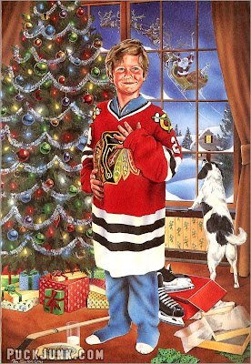 1990 Blackhawks Holiday Card