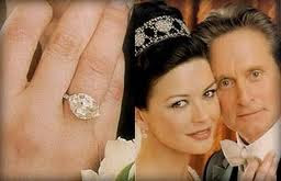 10-carat marquise cut antique diamond engagement ring - Michael Douglas-Catherine Zeta-Jones