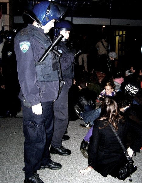 Prosvjed ispred MZOŠ, 1.12.2009. - 3
