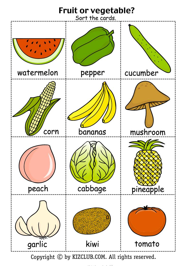 This is a photo of Comprehensive Printable Fruit and Vegetables