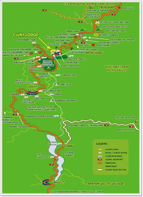 Cameron Highlands map snatched from the internet