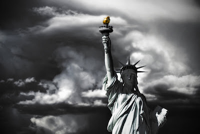 Statue Of Liberty and white photography