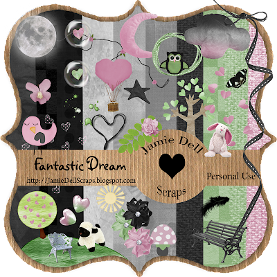 "Scrapbook Freebie Kit ""Fantastic Dream"" from Jamie Dell Scraps"