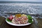El ceviche y el mar.