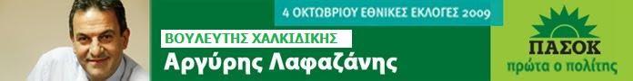 Αργύρης Λαφαζάνης -  Βουλευτής ΠΑΣΟΚ Χαλκιδικής