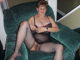 wife on her couch