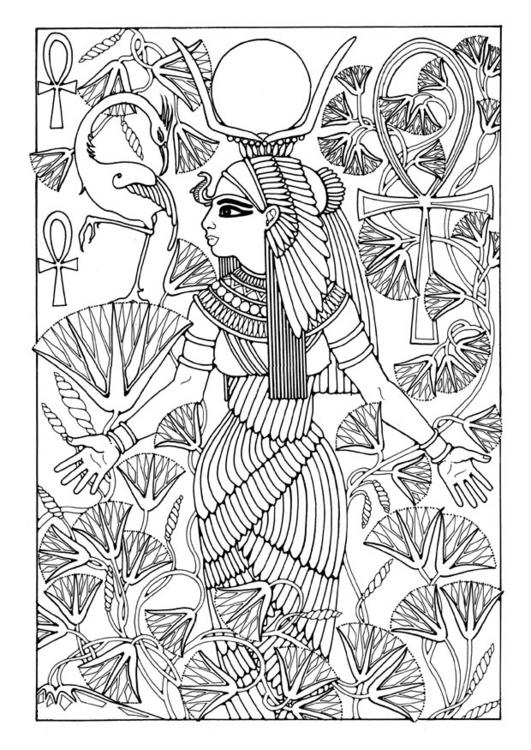 egyptian women coloring pages - photo#28