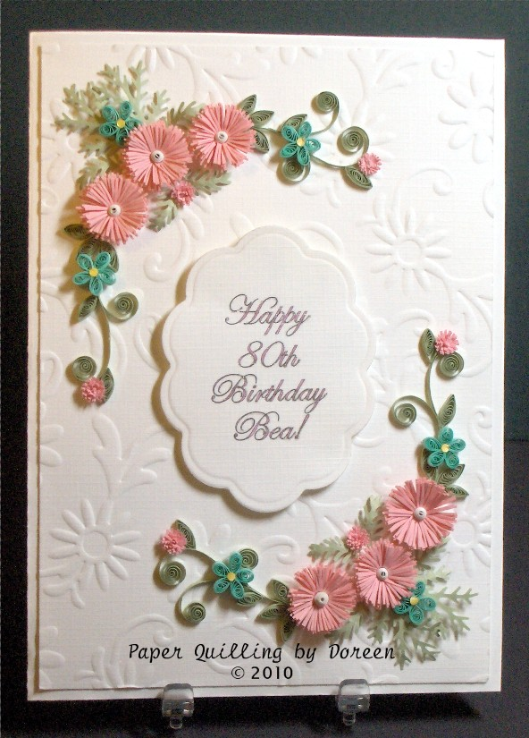 Birthday Card Quilling