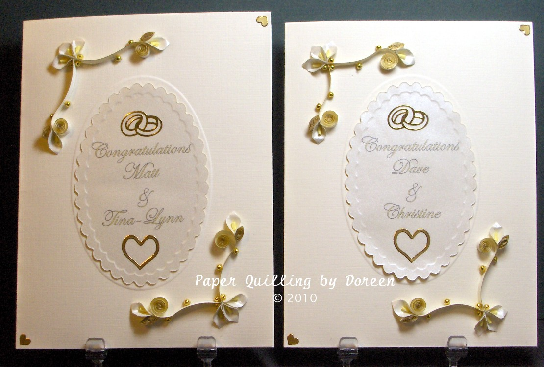 Creative Paper Quilling By Doreen Wedding Season Means Lots Of Cards