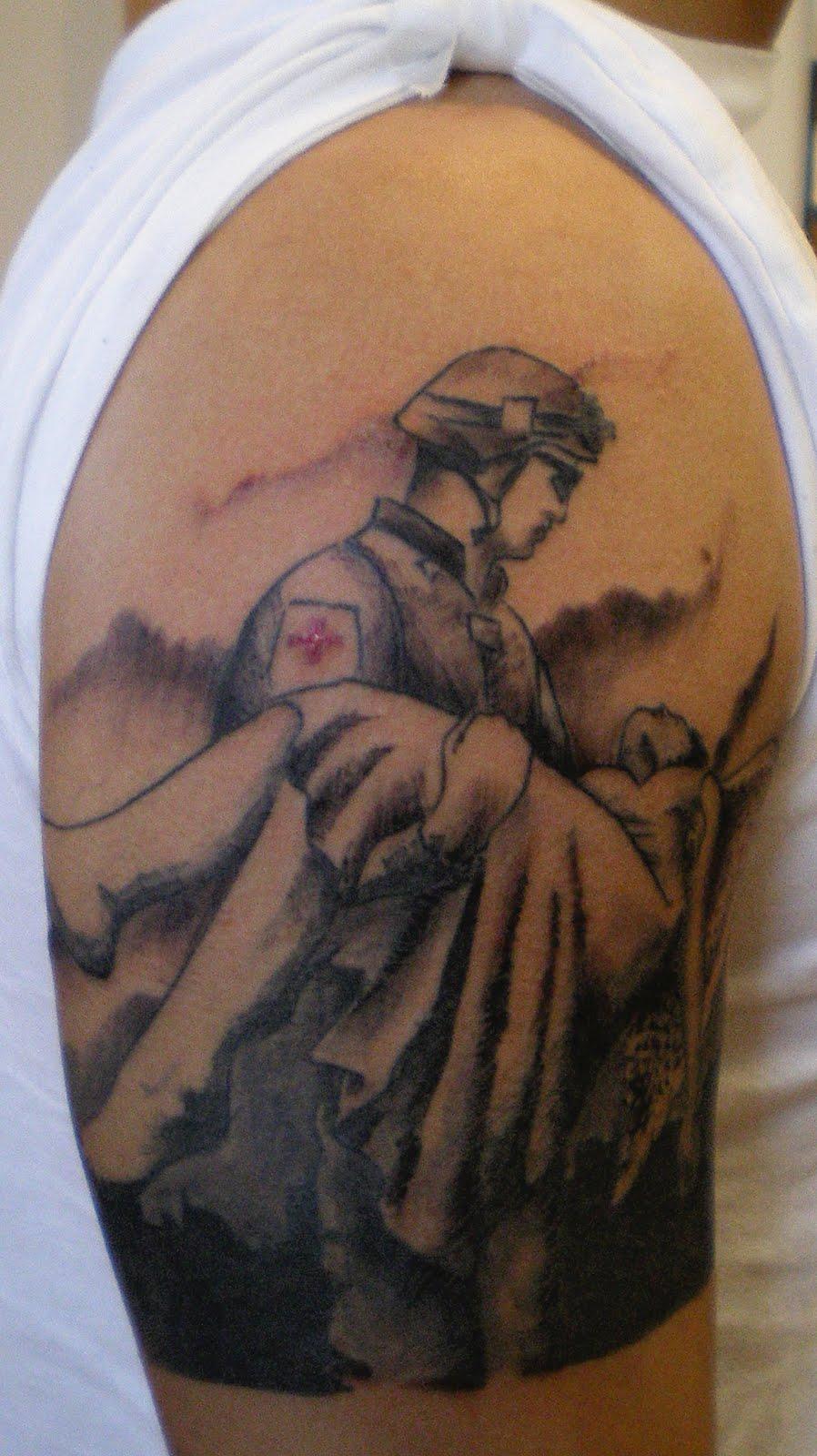 Swat medic tattoo the image kid has it for Combat medic tattoo