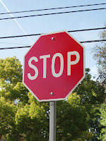 American Stop road sign