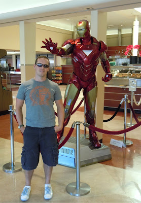 Iron Man 2 movie costume and Jason