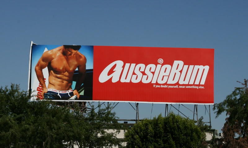 AussieBum hot male model underwear billboard