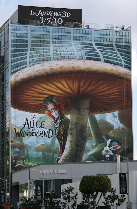 Disney Alice in Wonderland movie billboard