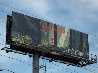 SHHH Santa adult swim billboard
