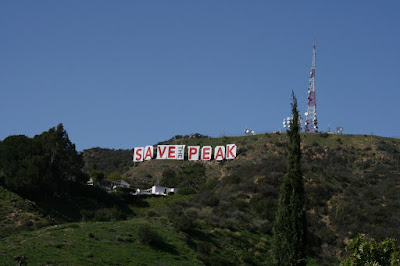 Save the Peak Hollywood Sign protest