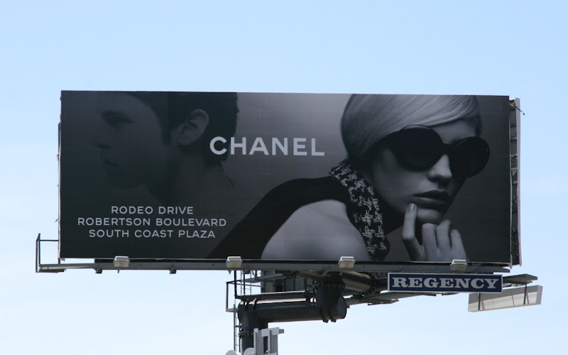 Chanel fashion billboard April 2009