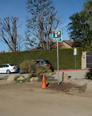 New Runyon Canyon parking sign