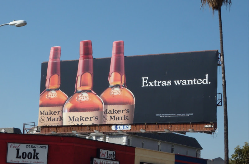 Maker's Mark bourbon Extras Wanted billboard