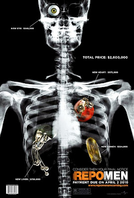 Repo Men Organs x-ray film poster