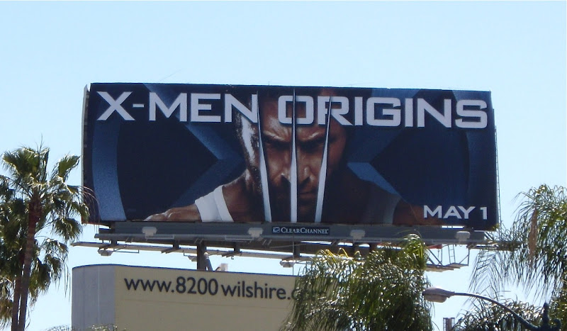 Wolverine X-Men Origins film billboard